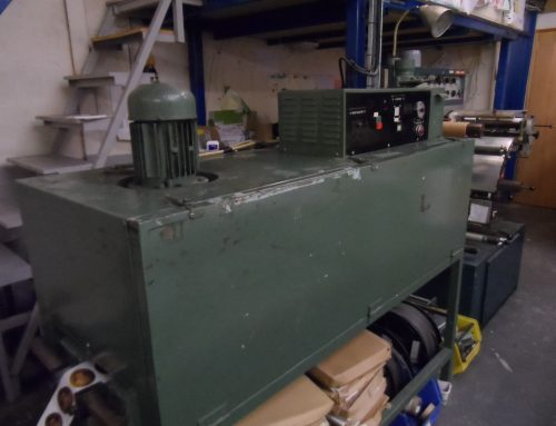 ** SOLD ** Three phase letterpress drying tunnel